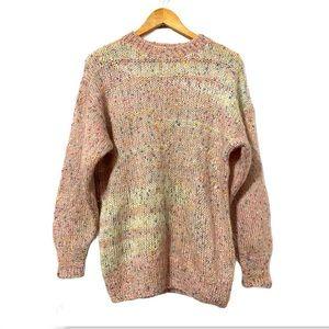 Cute Rainbow Candy DesignMohair Blend KnitSweater